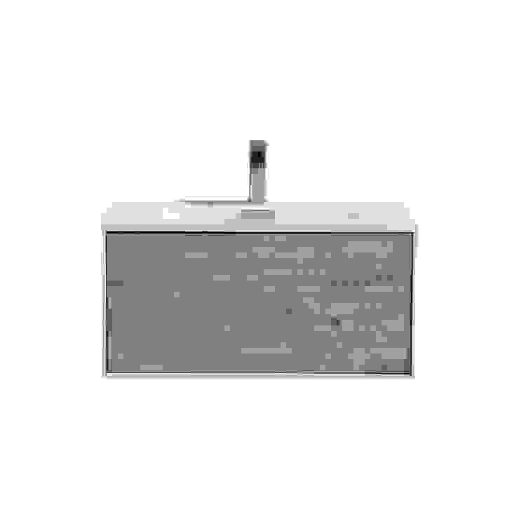 DIVARIO 30″ NATURE WOOD WALL MOUNT MODERN BATHROOM VANITY - SKU: D30NW KubeBath BathroomStorage
