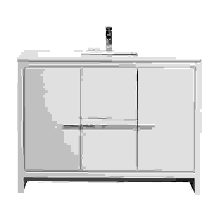 DOLCE - 48″ - HIGH GLOSS WHITE - SINGLE SINK - SKU: AD648SGW KubeBath BathroomStorage