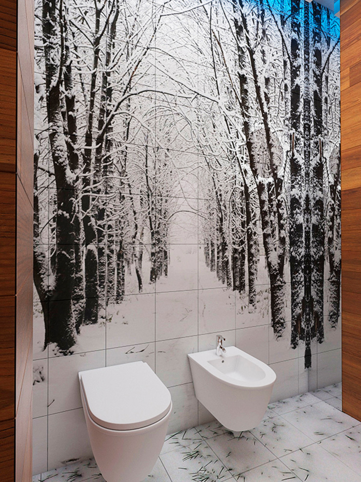 Eclectic style bathroom by Дизайн студия Александра Скирды ВЕРСАЛЬПРОЕКТ Eclectic