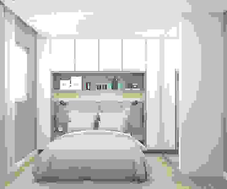 Quarto de casal pequeno Quartos minimalistas por Artha Arquitetura Minimalista Madeira Efeito de madeira