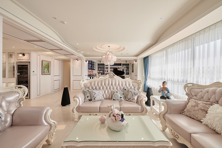 挑高弧形連結場域間 根據 趙玲室內設計 古典風