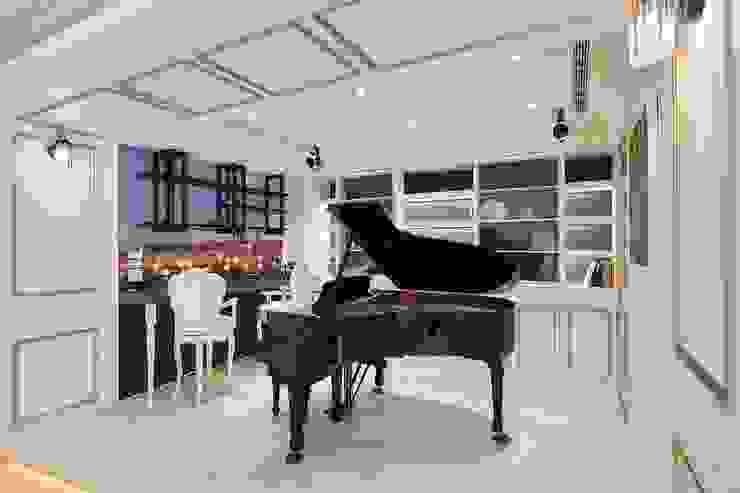 琴房兼吧台 優閒午後 根據 趙玲室內設計 古典風