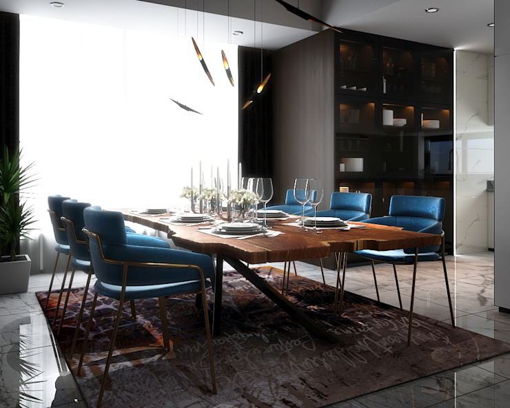 Penthouse Modern dining room by Norm designhaus Modern