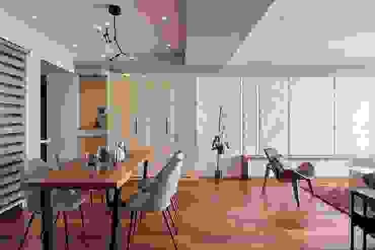 大理石斜切電視牆面 根據 趙玲室內設計 現代風