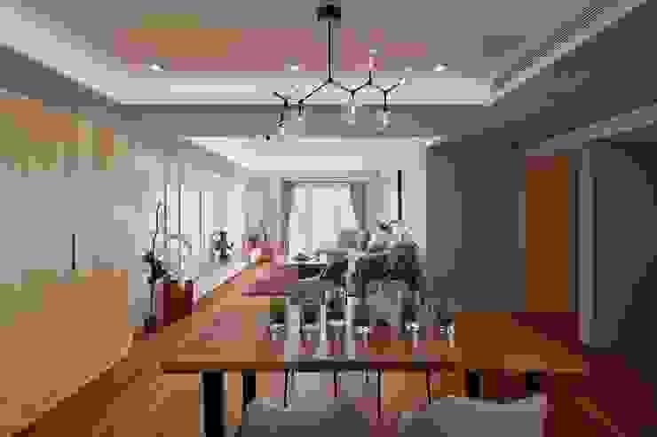 客廳串聯餐廳 開放大格局 根據 趙玲室內設計 現代風