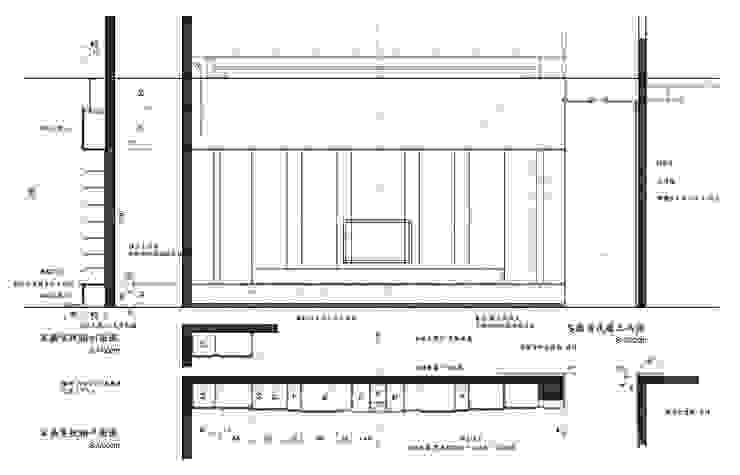 造型 電視牆 設計 立面圖 施工圖 尺寸圖: 不拘一格  by 艾莉森 空間設計, 隨意取材風