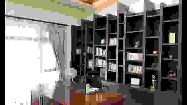 書房 書櫃 展示櫃 設計 根據 艾莉森 空間設計 日式風、東方風 實木 Multicolored