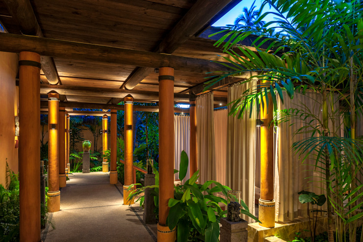 Hotel Tropis Oleh BR ARQUITECTOS Tropis Kayu Wood effect