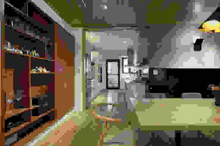 惠宇天青7b 現代風玄關、走廊與階梯 根據 台中室內設計-築采設計 現代風