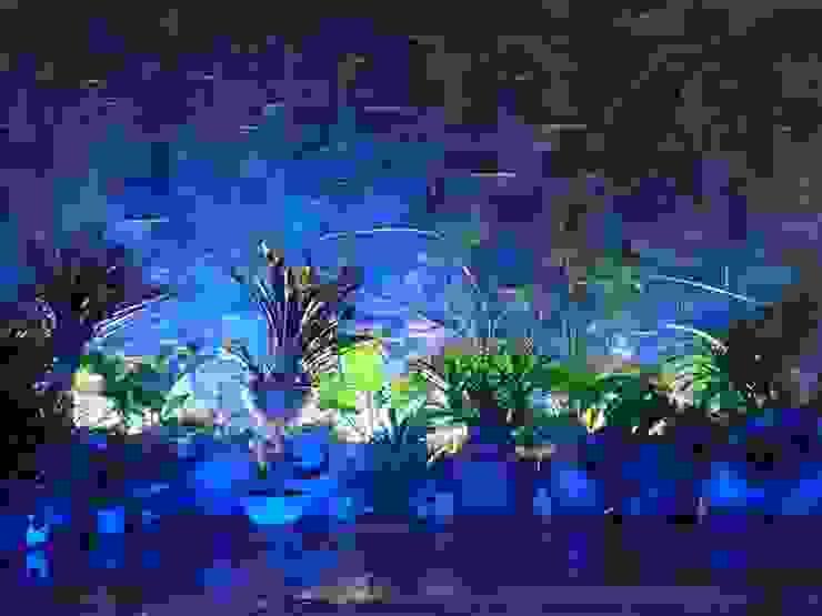 paisajismo en terraza ESTUDIO KULUMAK Jardines de piedras Piedra
