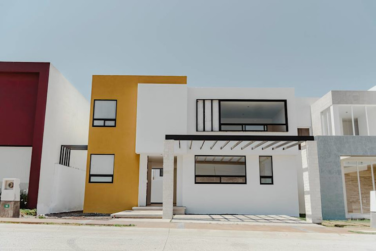 Yatzíl (Otra fachada) de homify Moderno Concreto