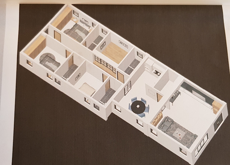 施工前3D配置圖 懷謙建設有限公司