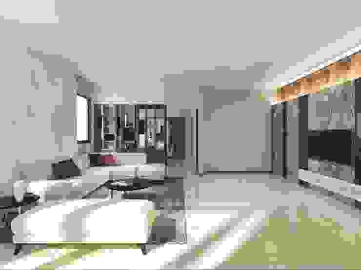 施工前客廳3D示意圖 懷謙建設有限公司