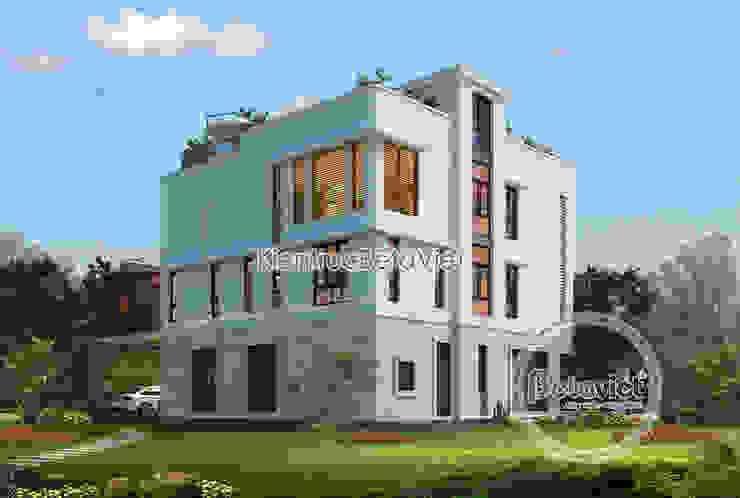 Phối cảnh mẫu biệt thự đẹp 3 tầng đẹp mê ly (CĐT: Ông Nam - Quảng Ninh) KT18301 bởi Công Ty CP Kiến Trúc và Xây Dựng Betaviet