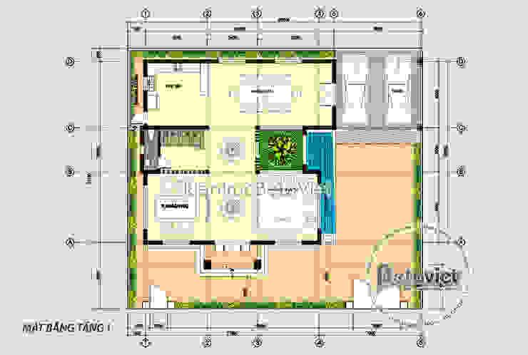 Mặt bằng tầng 1 mẫu biệt thự đẹp 3 tầng đẹp mê ly (CĐT: Ông Nam - Quảng Ninh) KT18301 bởi Công Ty CP Kiến Trúc và Xây Dựng Betaviet
