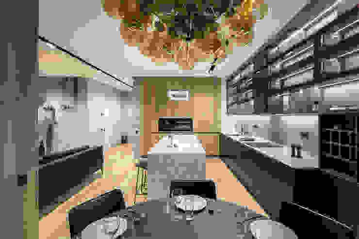 Minimalistyczna kuchnia od U-Style design studio Minimalistyczny