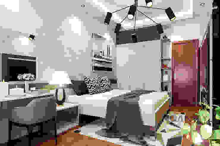 Tủ quần áo làm vách ngăn phòng ngủ: hiện đại  by Thương hiệu Nội Thất Hoàn Mỹ, Hiện đại