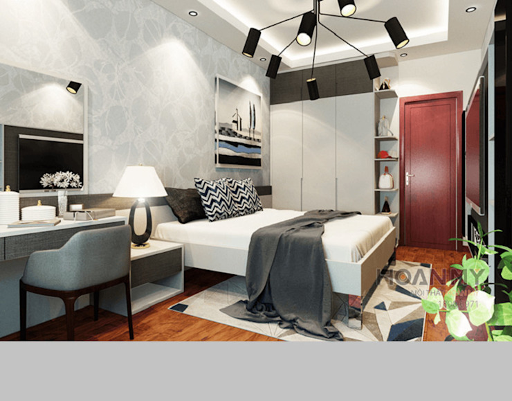 Tủ quần áo phòng ngủ: hiện đại  by Thương hiệu Nội Thất Hoàn Mỹ, Hiện đại