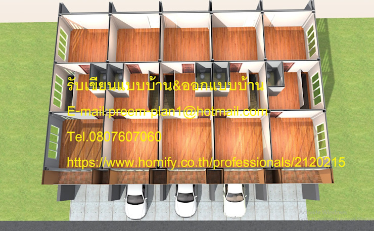 di รับเขียนแบบบ้าน&ออกแบบบ้าน Eclettico Legno Effetto legno