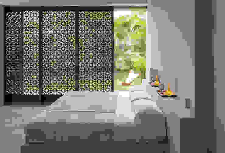 Casa Mesa de Yeguas X-13: Habitaciones de estilo  por NOAH Proyectos SAS, Moderno Vidrio