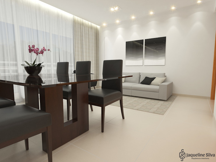 Salas / recibidores de estilo  por JAQUELINE SILVA ARQUITETURA E INTERIORES, Moderno