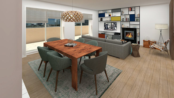 Dining room Comedores de estilo moderno de No Place Like Home ® Moderno