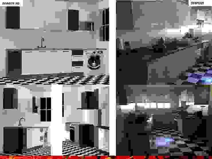 DISEÑO INTERIOR: Cocinas equipadas de estilo  por HZ ARQUITECTOS SANTIAGO DISEÑO COCINAS JARDINES PAISAJISMO REMODELACIONES OBRA, Minimalista Derivados de madera Transparente