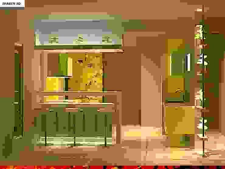 DISEÑO INTERIOR: Muebles de cocinas de estilo  por HZ ARQUITECTOS SANTIAGO DISEÑO COCINAS JARDINES PAISAJISMO REMODELACIONES OBRA, Minimalista Derivados de madera Transparente