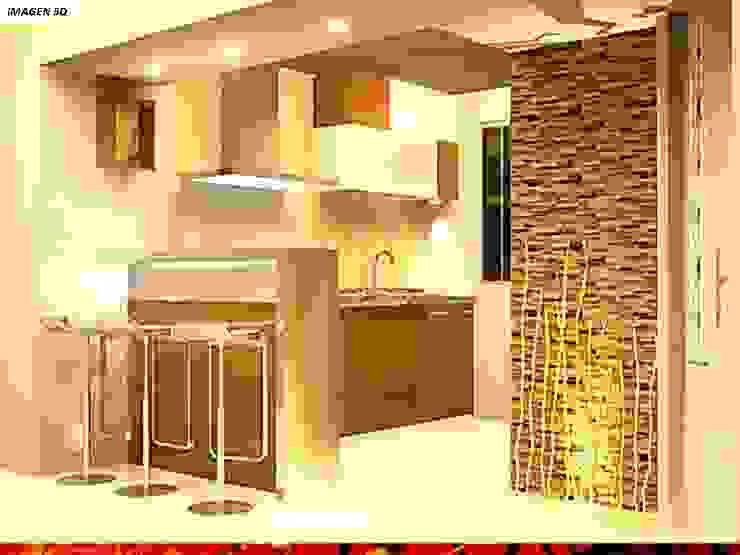 DISEÑO INTERIOR: Cocinas equipadas de estilo  por HZ ARQUITECTOS SANTIAGO DISEÑO COCINAS JARDINES PAISAJISMO REMODELACIONES OBRA, Mediterráneo Piedra