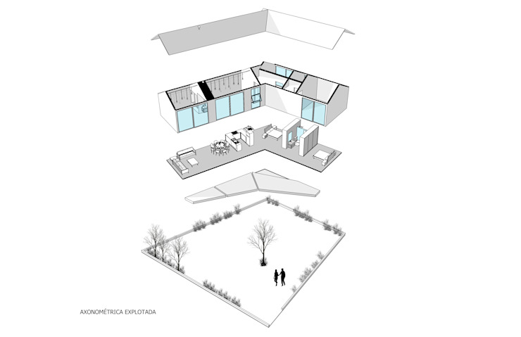 Vivienda La Caja Sin Título Arquitectura Balcones y terrazas modernos