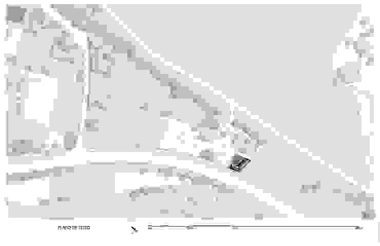 Vivienda La Caja Sin Título Arquitectura Jardines de estilo moderno