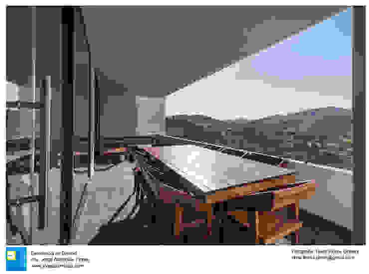 Casa Zotero Balcones y terrazas minimalistas de Excelencia en Diseño Minimalista