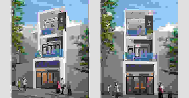 Thiết kế nhà ống 3 tầng 100m2 anh Hiếu chị Sáng ở Bắc Ninh bởi Việt Architect Group