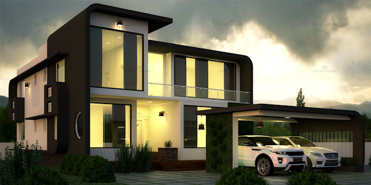 Home Designers in Kerala Asian style houses by Monnaie Interiors Pvt Ltd Asian