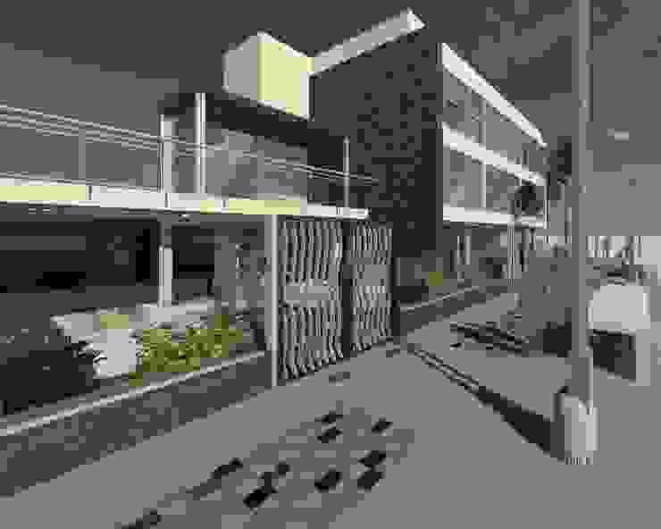 Intervención en exteriores de Edificio España ESTUDIO KULUMAK Casas modernas