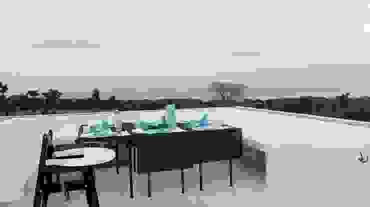 Villa Resort Nuansa Studio Architect Atap datar Beton Bertulang White