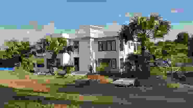 Villa Resort Dinding & Lantai Modern Oleh Nuansa Studio Architect Modern Beton Bertulang