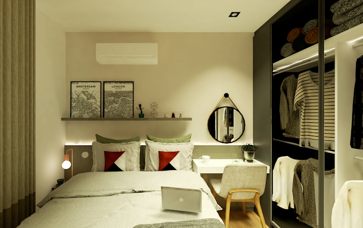 Modern style bedroom by Arquiteca Projetos Modern