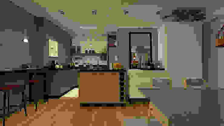 Cocinas de estilo moderno de Arquiteca Projetos Moderno