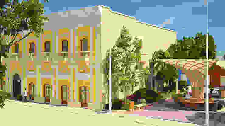 Diseño paisajista en inmediaciones de la edificación de A.BORNACELLI
