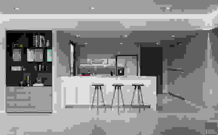 Thiết căn hộ Gateway Thảo Điền: Đẳng cấp của một căn hộ phong cách hiện đại Nhà bếp phong cách hiện đại bởi ICON INTERIOR Hiện đại