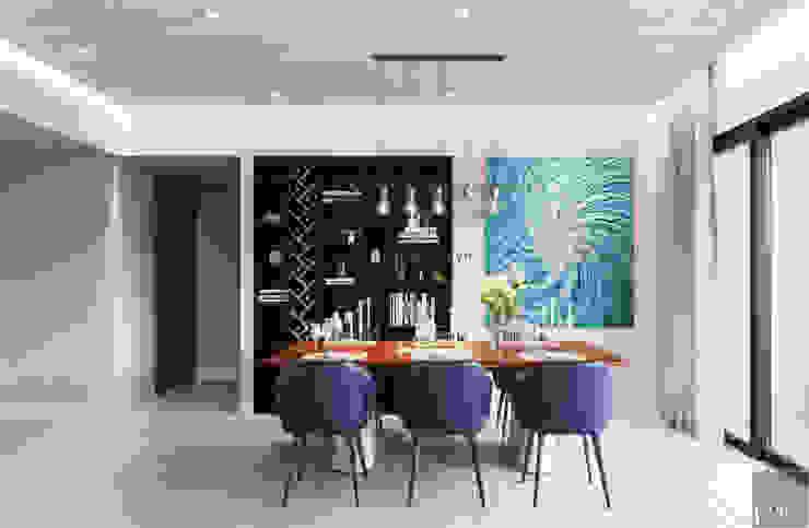 Thiết căn hộ Gateway Thảo Điền: Đẳng cấp của một căn hộ phong cách hiện đại Phòng ăn phong cách hiện đại bởi ICON INTERIOR Hiện đại