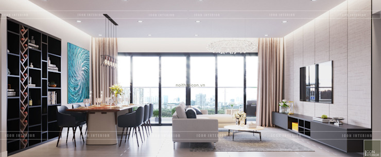 Thiết căn hộ Gateway Thảo Điền: Đẳng cấp của một căn hộ phong cách hiện đại bởi ICON INTERIOR Hiện đại