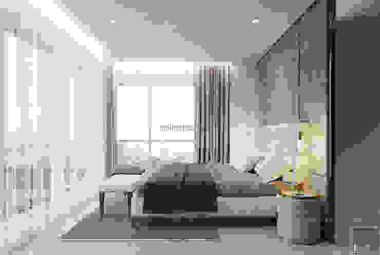 Thiết căn hộ Gateway Thảo Điền: Đẳng cấp của một căn hộ phong cách hiện đại Phòng ngủ phong cách hiện đại bởi ICON INTERIOR Hiện đại