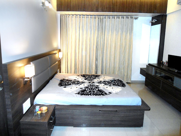 Vangikar Residence Interiors Modern style bedroom by Vangikar Architects Modern