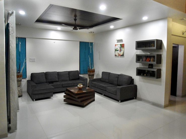 Vangikar Residence Interiors Modern living room by Vangikar Architects Modern