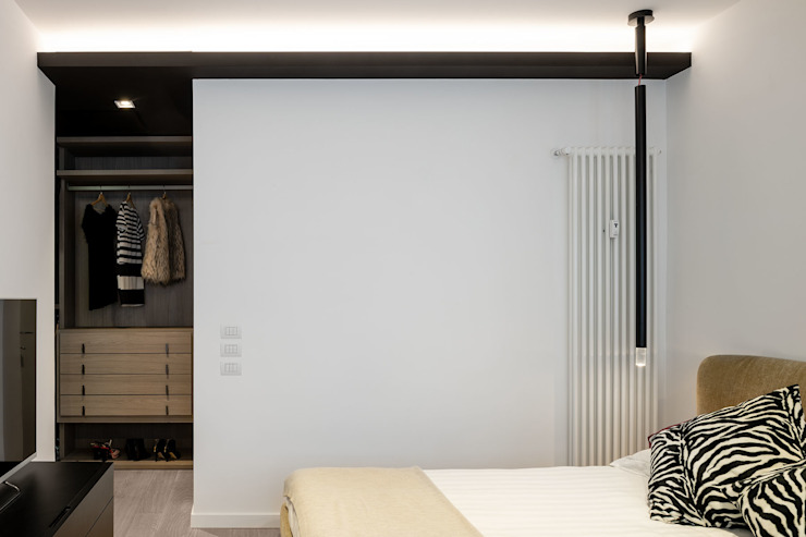 Moderne Schlafzimmer von Patrizia Burato Architetto Modern Holz Holznachbildung
