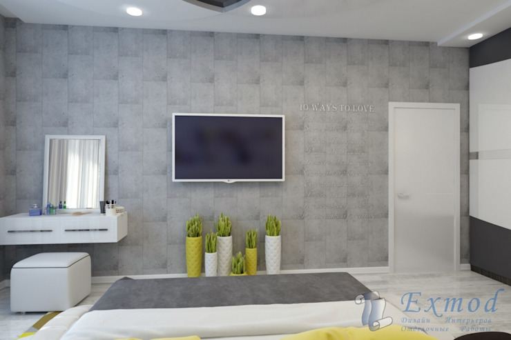 Bedroom by Цунёв_Дизайн. Студия интерьерных решений.,