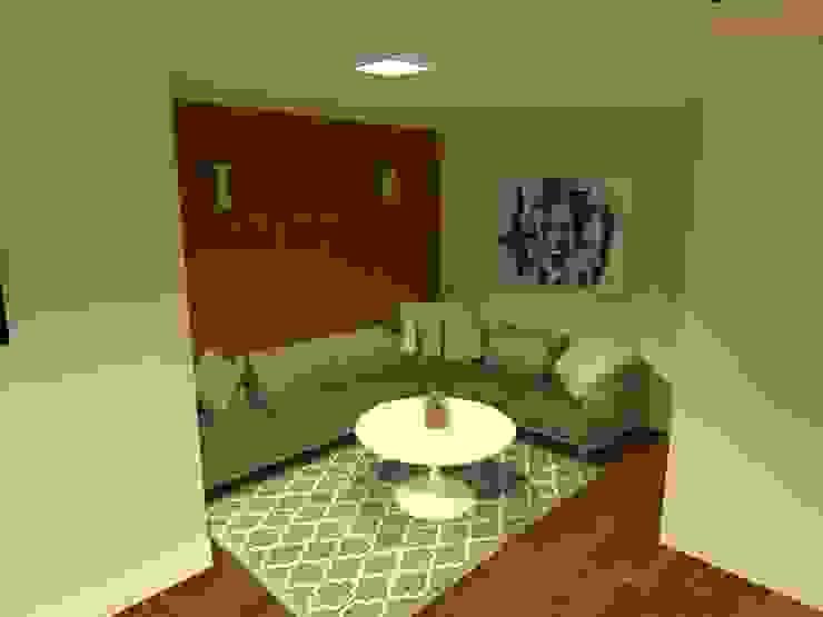 Sala intima - salão de festas gourmet Salas de estar modernas por Aline Mozzer Arquitetura Moderno