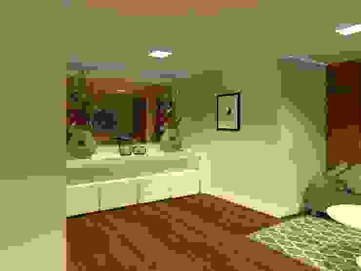 Sala intima - salão de festas gourmet por Aline Mozzer Arquitetura Moderno MDF